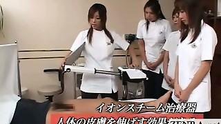 Subtitled CFNM Asian cock health polyclinic seminar