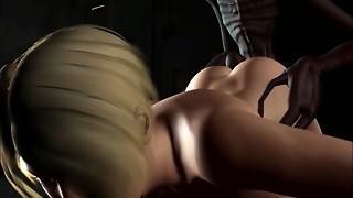 3 dimensional Animation. Alien Abduction
