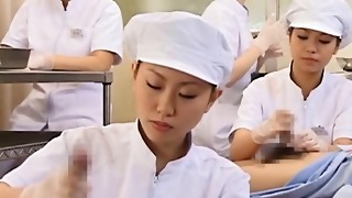 Chinese nurse working wooly schlong