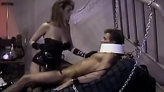 Christy Canyon, Peter North in domination & submission domme lets the victim