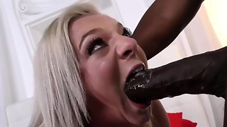 Cheerleader Tiffany Watson likes ebony shaft