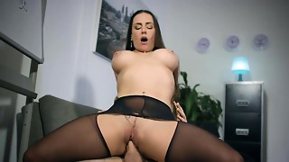 Brazzers - Thick Bumpers at Work - Under The Table