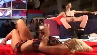 Gross stud gets cutie stripper