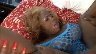 Super-naughty gross ebony lady nailed in her giant fuckbox