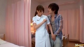 Akiho Yoshizawa Asian nurse has bang-out in the polyclinic