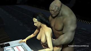 Wonderwoman Pulverizes Thick Troll Manmeat