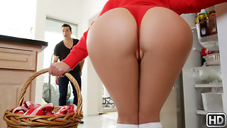 Angela Milky  Ramon Nomar in Tiny Crimson Spandex hood Railing Hard-core Parody - RealityKings