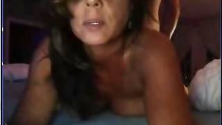 48 yr oldmarried cougar andher paramour on webcam having sex.
