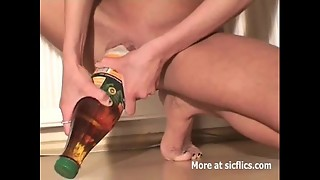 Thin superslut nailing giant bottles