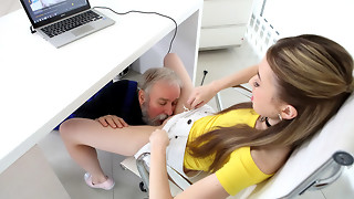 Vlada in Vlada gets her very first taste of aged stud man rod - OldGoesYoung