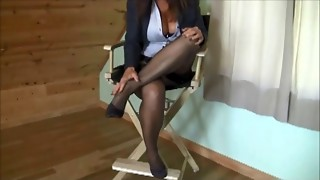 Blair Taunts Wearing Simply Classical Brand RHT Nylons