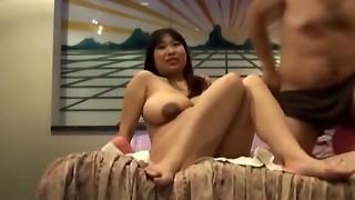 Big-chested Chinese knocked up gets nailed bimbo