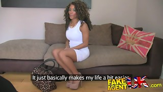FakeAgentUK: Unexperienced dark-hued inexperienced gets duped into faux lovemaking audition