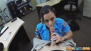 Beautiful Police Officer Had My Pistol In Her Facehole