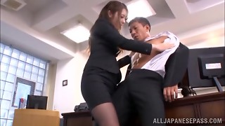 Spectacular Japanese assistant Ayu Sakurai satiates her unbelievable chief