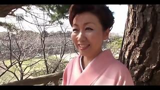 39 year older Yayoi Iida Gulps 2 Explosions (Uncensored)