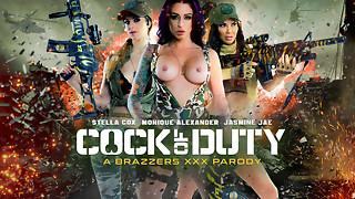 Jasmine Jae & Monique Alexander & Stella Cox & Danny D in Spear Of Duty: A Hardcore Parody - Brazzers