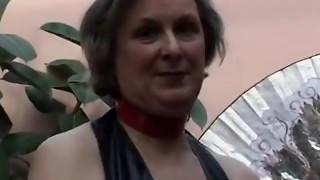 Mischievous grandma plays with big romp fucktoys