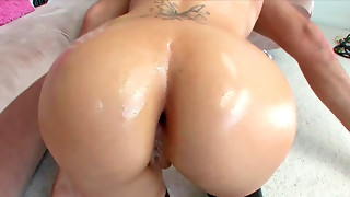 Mariah Madysinn deep throating hard-on and getting rectally drilled highly firm
