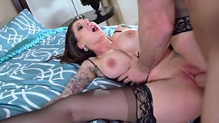 Darling Danika and Johnny Sins organize a handsome pornography demonstrate
