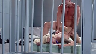 A ash-blonde ultra-cutie is getting porked truly firm in the jail