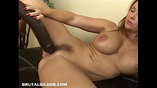 Huge-chested cougar Janet taking every sole of a meaty cruel fuck stick